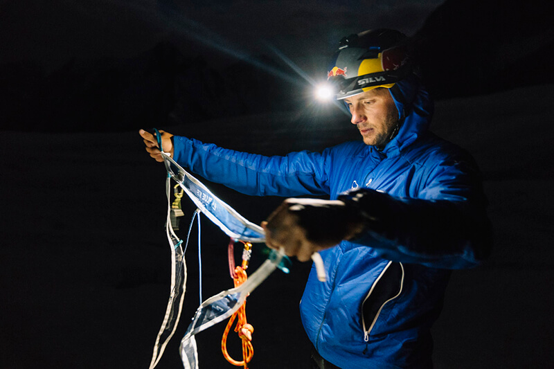 Andrzej Bargiel, K2 Ski descent