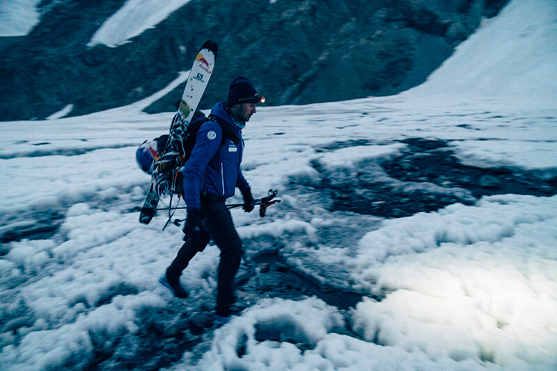 The world's first ski descent of K2