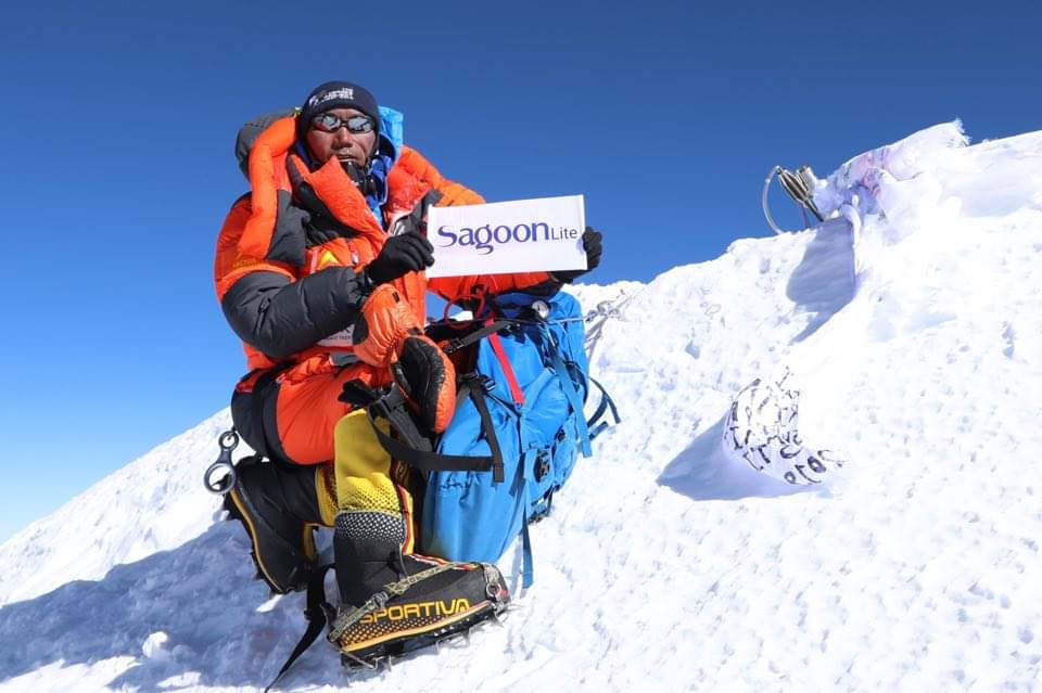 Sherpa guide breaks own record by climbing Everest for 24th time