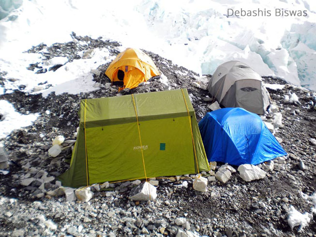 Camp 2 mt everest expedition