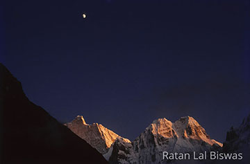 Mt. Jannu and Sobite wange from Khambachen